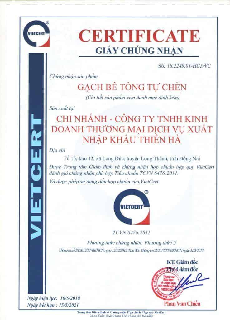 Chung nhan hop chuan hop quy gach be tong tu chen Thien Ha